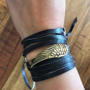 Leather and Feather Wrap